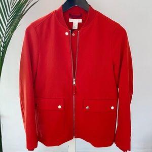 H&M Premium Quality Crepe Zip-Front Jacket